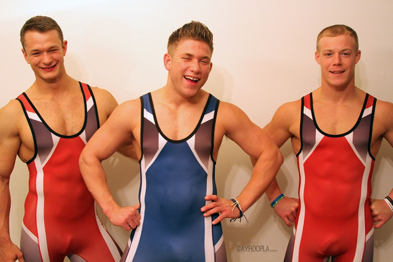 gayhoopla  Colt Mclaire, Tyler Hanson and Daniel Carter