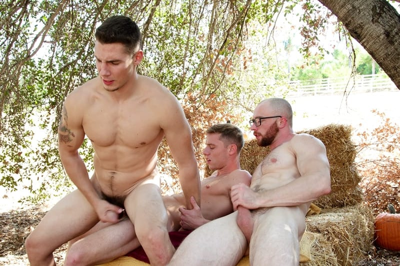 Men for Men Blog Markie-More-Justin-Matthews-Spencer-Laval-gay-threesome-big-bareback-cock-virgin-hole-raw-fuck-NextDoorStudios-014-gay-porn-pictures-gallery Markie More slides his big bareback cock deep into Spencer Laval's virgin hole followed by Justin Matthews' raw dick Next Door World