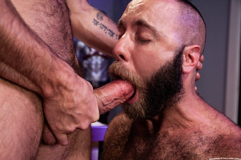Men for Men Blog Teddy-Bear-Nigel-March-naked-Hairy-hunk-fucked-huge-cock-at-Raging-Stallion-010-gay-porn-pictures-gallery Horny stud Teddy Bear rolls over on his back and lets Nigel March slam his ass Raging Stallion