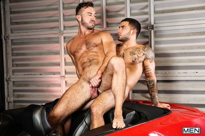 Men for Men Blog Vadim-Black-Grant-Ryan-strip-nude-sexy-dudes-sucking-huge-cocks-off-Men-015-gay-porn-pictures-gallery Vadim Black and Grant Ryan strip out of their leather driving gear sucking each other's huge cocks off Men