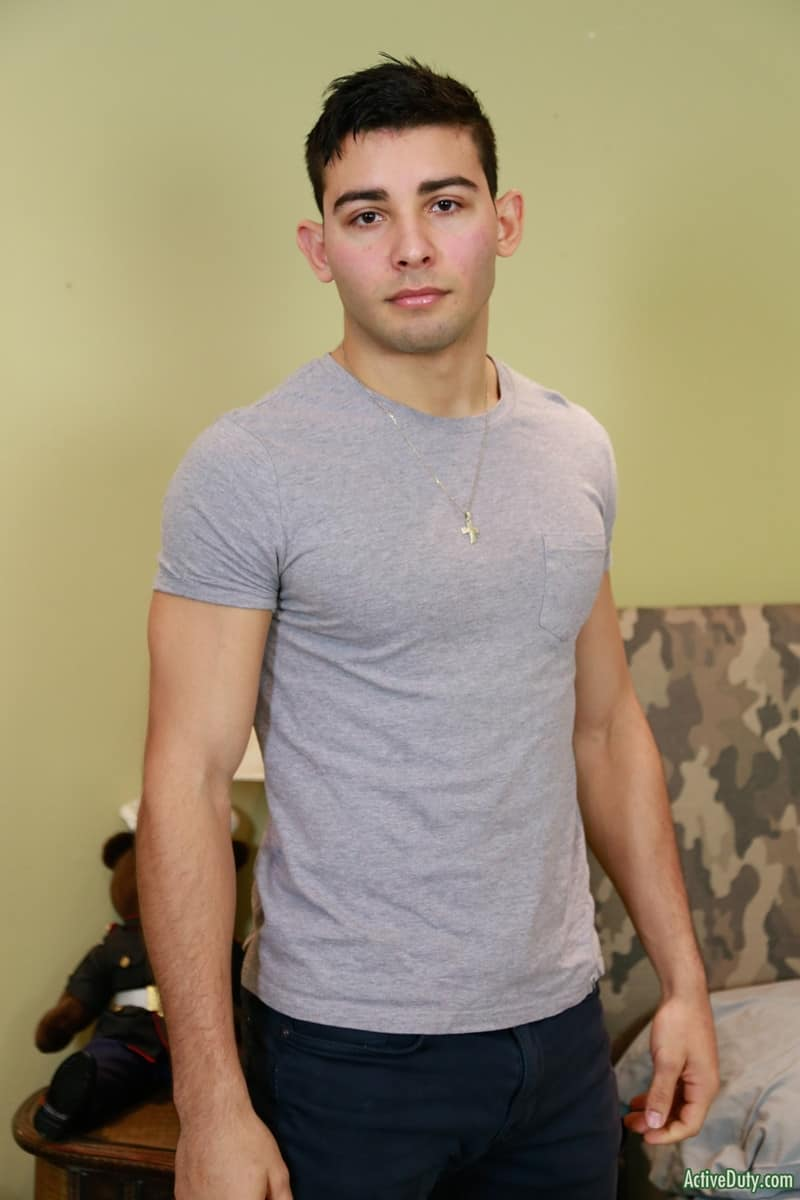 Men for Men Blog Monte-Marcello-Sexy-young-soldier-strokes-big-uncut-dick-foreskin-huge-cum-load-ActiveDuty-003-gay-porn-pics-gallery Sexy young soldier Monte Marcello strokes his big uncut dick playing with his foreskin before shooting a huge load Active Duty