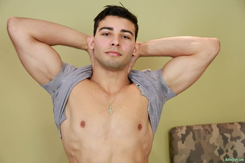 Men for Men Blog Monte-Marcello-Sexy-young-soldier-strokes-big-uncut-dick-foreskin-huge-cum-load-ActiveDuty-005-gay-porn-pics-gallery Sexy young soldier Monte Marcello strokes his big uncut dick playing with his foreskin before shooting a huge load Active Duty