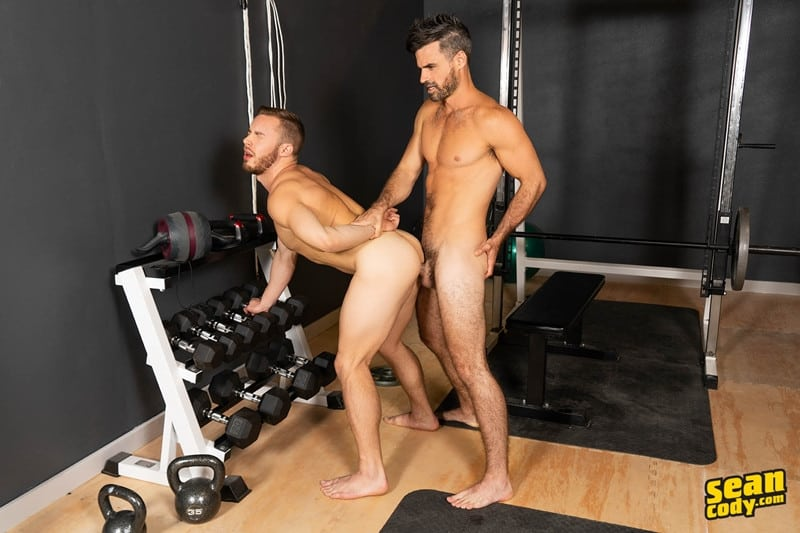 Men for Men Blog Gay-Porn-Pics-018-Stud-Daniel-muscled-Cam-sweaty-bareback-ass-fucking-SeanCody Studly Daniel leads sculpted Cam through a sweaty hands on yoga session before bareback ass fucking Sean Cody