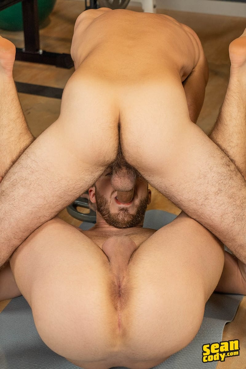 Men for Men Blog Gay-Porn-Pics-020-Stud-Daniel-muscled-Cam-sweaty-bareback-ass-fucking-SeanCody Studly Daniel leads sculpted Cam through a sweaty hands on yoga session before bareback ass fucking Sean Cody